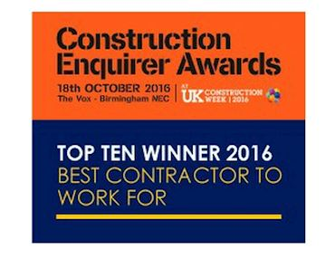 Construction Enquirer Awards Top Ten Winner 2016