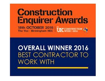 Construction Enquirer Awards Winner 2016