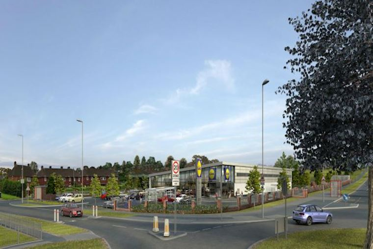 Contract for West Yorkshire's first 'Lidl of the Future' store awarded to Caddick Construction