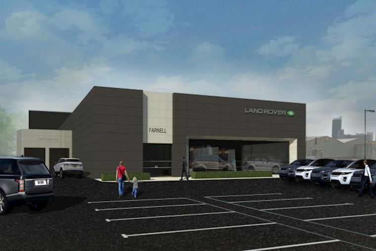 Caddick Construction drives forward with new Jaguar Land Rover showroom contract