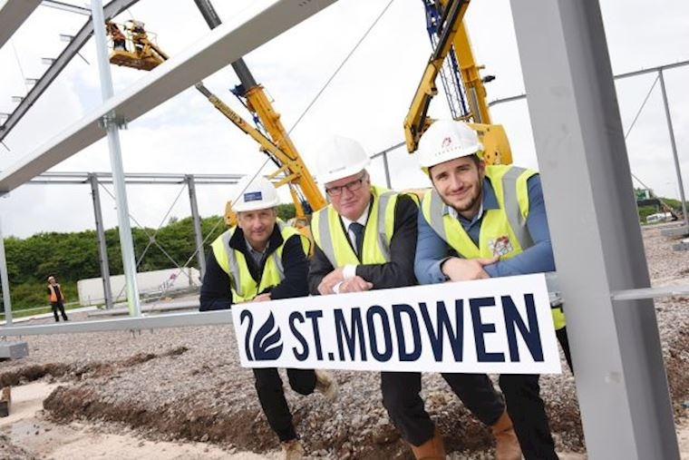 Steel frame erected as construction on designer discount store gets underway at Phoenix Park