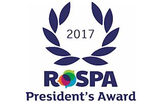 14 years Consecutive RoSPA Safety Award Winner