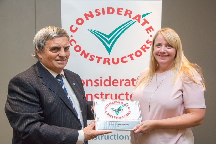 Caddick Construction named Considerate Constructor Partner
