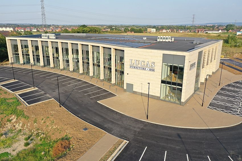 Caddick Construction complete on £6.8m flagship furniture showroom