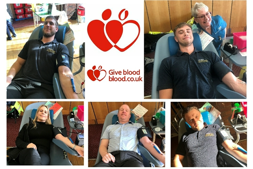 Caddick staff give blood