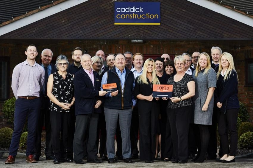 Caddick Construction Limited have been named a Top Ten Best Contractor to Work With