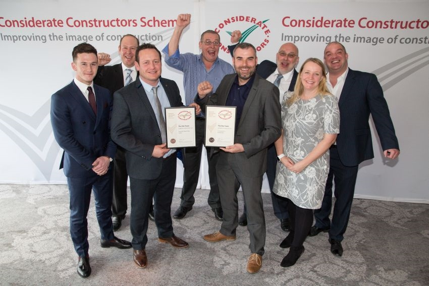 Yorkshire construction sites recognised as 'considerate'  at national award ceremony