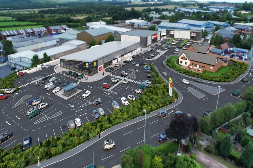 Garforth retail park now 85% occupied as construction begins