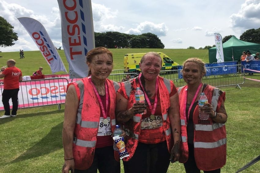 Caddick staff complete Pretty Muddy 5K