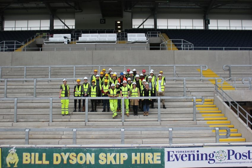 Caddick Construction gives Wakefield College students construction insights