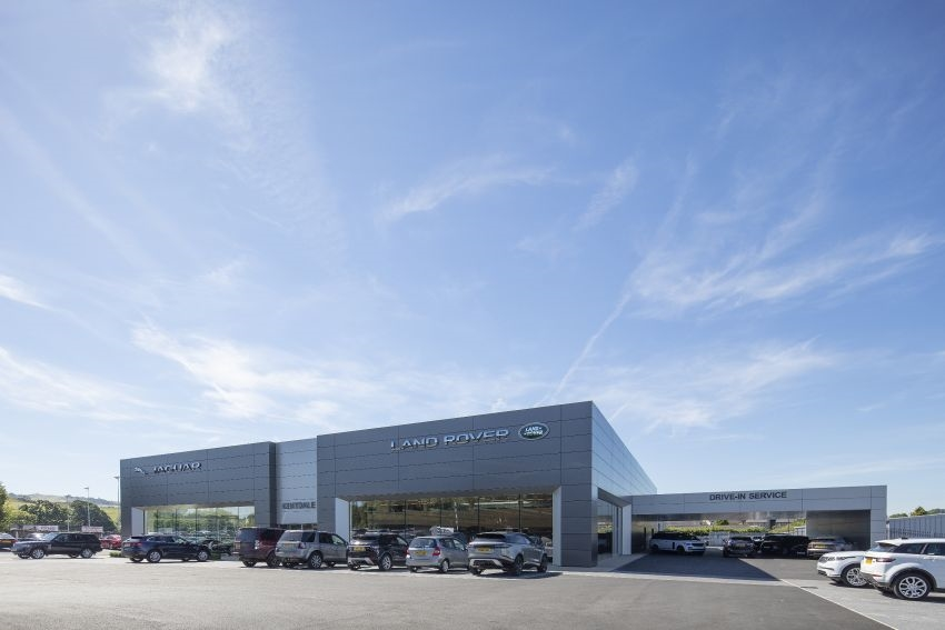 Caddick Construction Completes New Jaguar Land Rover Showroom