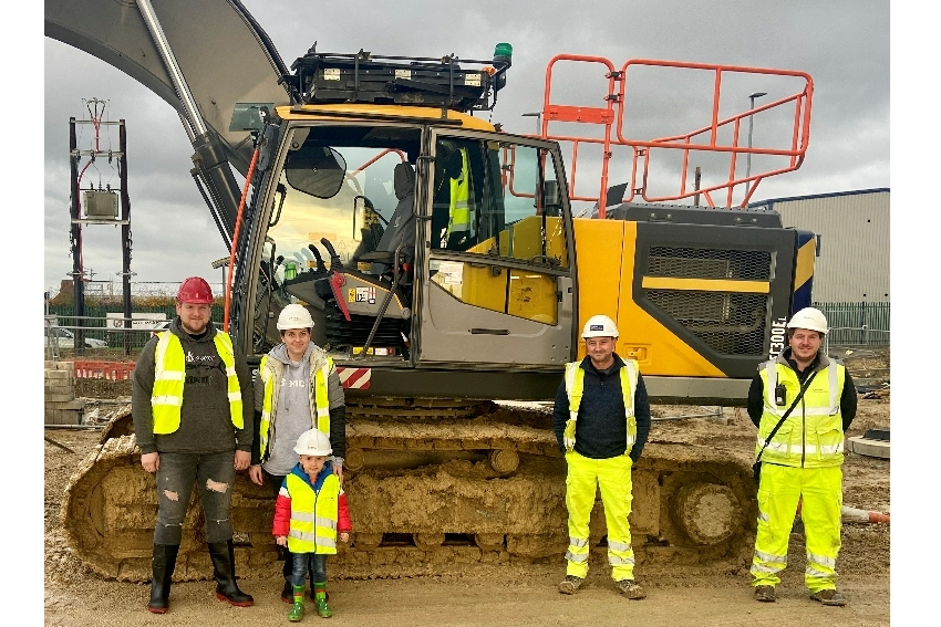 Knottingley's Youngest Wannabe Construction Worker Gets His Dream Come True