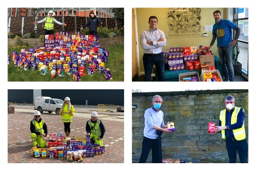 Egg-cellent effort for local charities by Caddick site teams