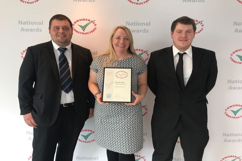 "Leeds Construction Site Recognised As ""Considerate"" At National Award Ceremony"