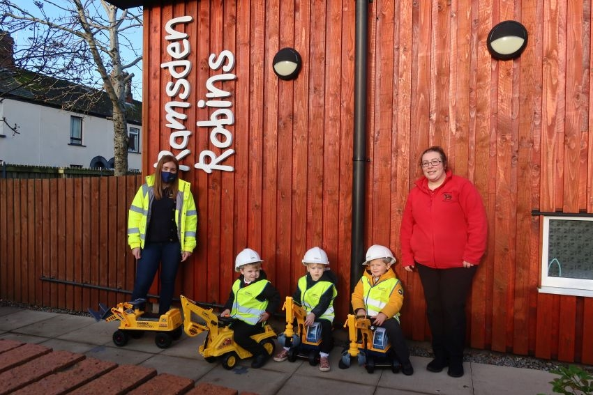 Caddick donates toys to Barrow Community Nursery to Replace Toys Stolen in Heartless Burglary