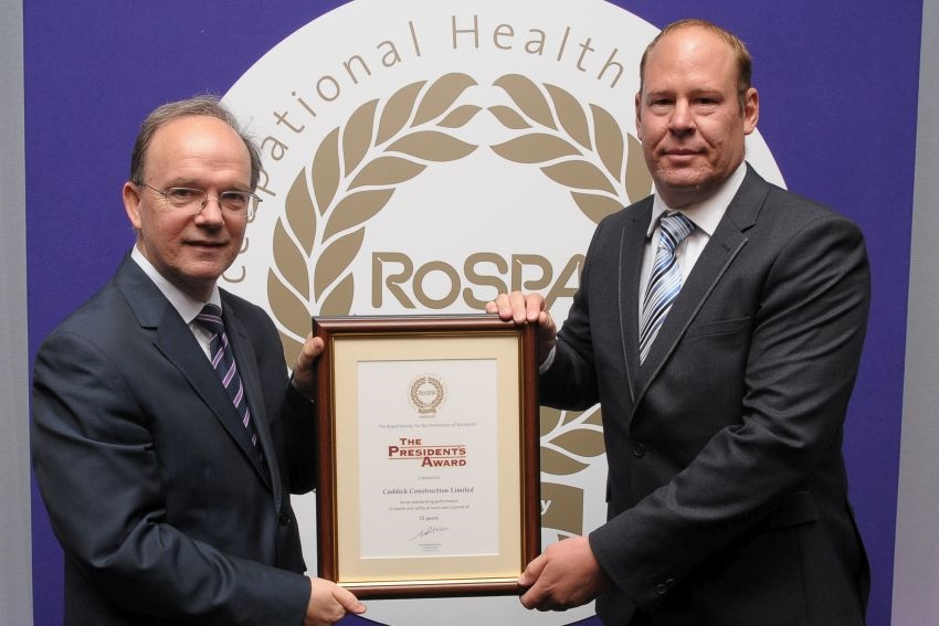 Caddick Construction wins top health and safety award