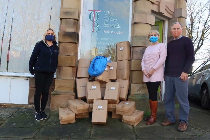 "Caddick donation ""in the bag"" to help Lancaster community charity"