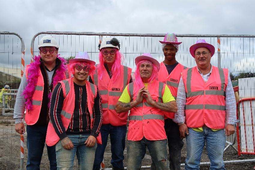 Caddick's construction teams go all out for cancer fundraising push