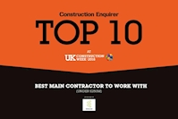 Caddick Construction named Top Ten Winner