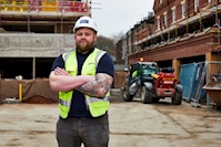 "Caddick Construction ""try"" out former rugby international prop as latest Trainee Site Manager"