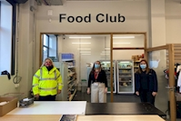 Caddick Construction gives helping hand to food bank