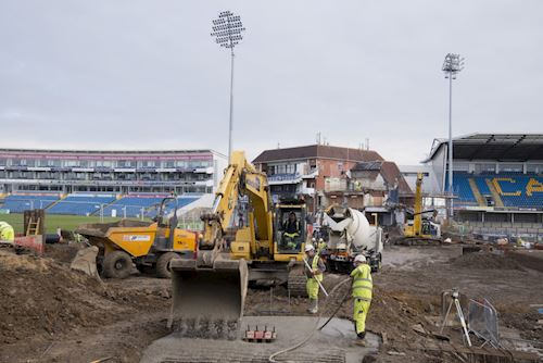 Emerald Headingley Stadium South Stand Groundworks