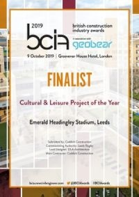 Caddick shortlisted for BCI Award