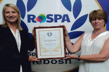 Caddick achieve RoSPA Order of Distinction